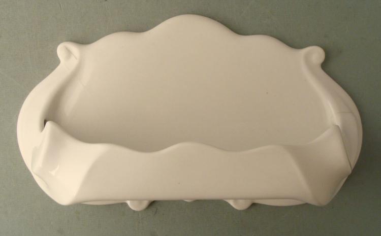 Porcelain Wall Hanging Bathroom Shelf White Antique