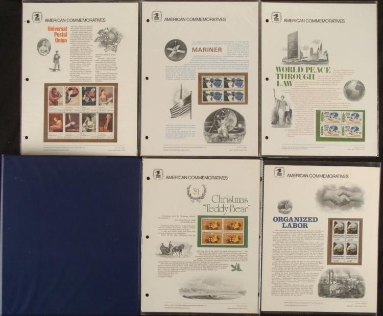 5 American Commemoratives Mariner, Labor 1975-81 Stamps