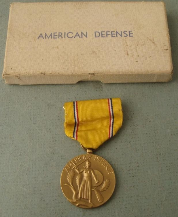 AMERICAN DEFENSE MEDAL IN ORIGINAL BOX