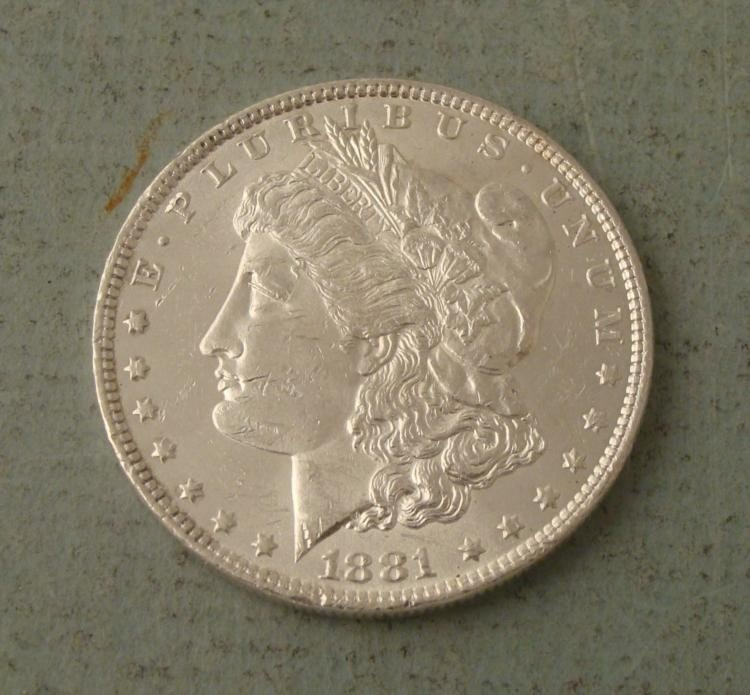 1881-O Morgan Silver Dollar Coin Uncirculated