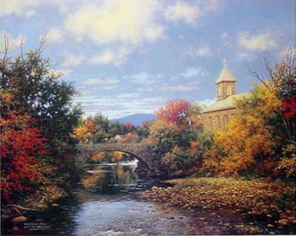Larry Doyle Autumn Sunrise (Hebrews 12:1) Lithograph