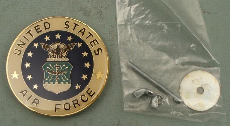 "LARGE US AIR FORCE ENAMEL/METAL INSIGNIA-RARE PIECE-3"""
