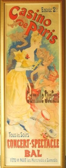 1891 Original Cheret French Poster Casino de Paris Huge