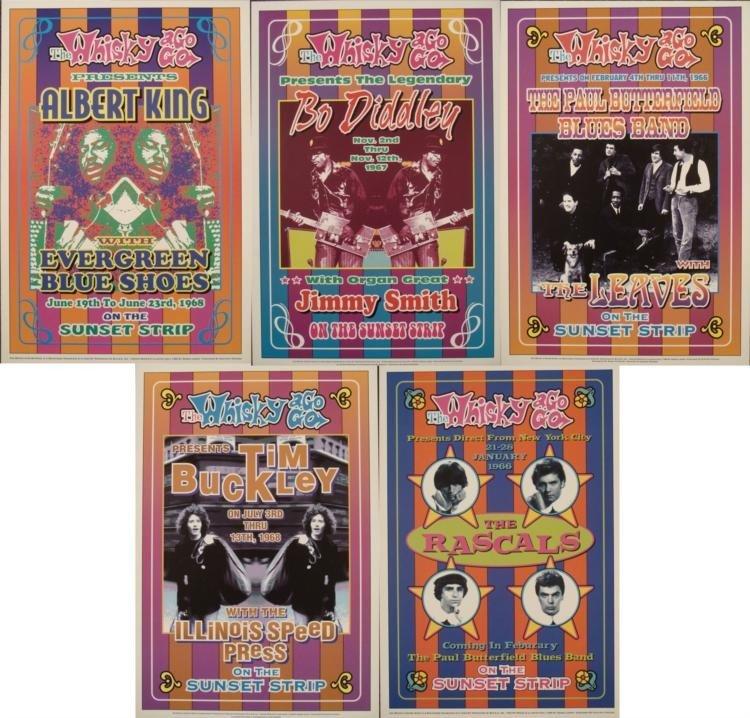 5 Whisky-A-Go-Go LA 1960s Rock Concert Posters