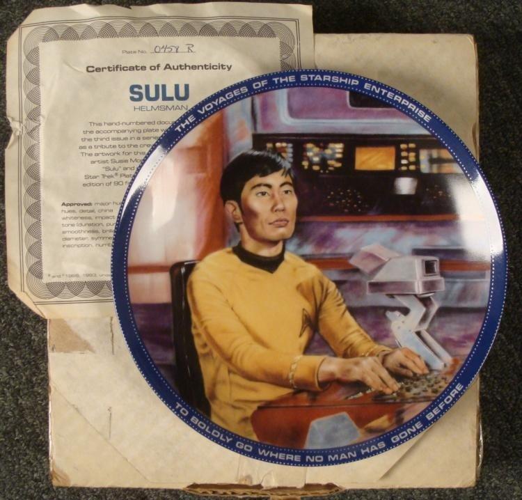 Star Trek Sulu Helmsman Ray Ernst Collectors Plate