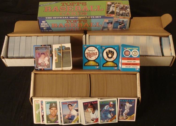 Baseball Complete Set 2500+ Cards 87' 88' Topps Donruss