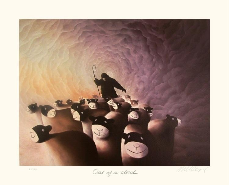 Mackenzie Thorpe 'OUT OF A CLOUD' Lithograph