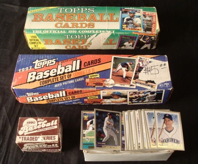 3 Sets and Over 400 Topps Baseball Cards 1990 1993 2000