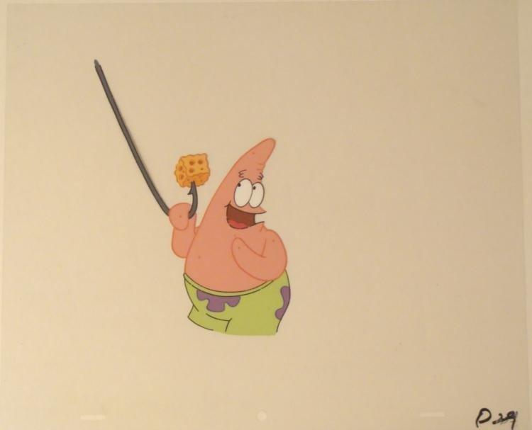 Free Food Original SpongeBob Cel Production Art Patrick