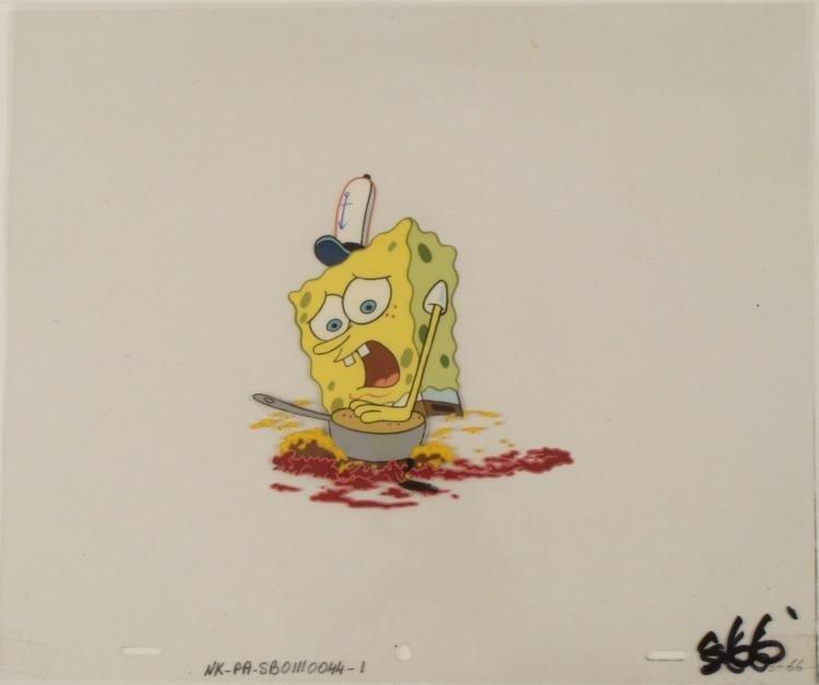 Original Cel Spongebob SQUASHED Animation Art