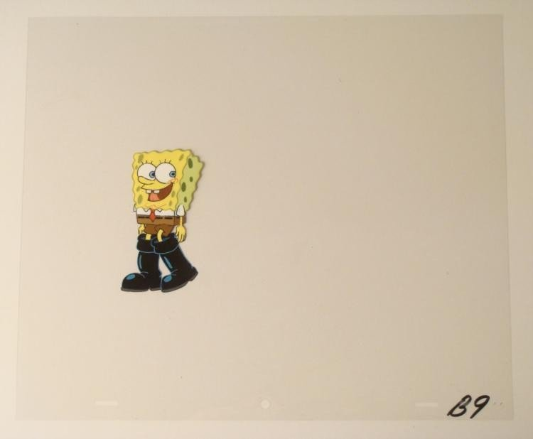 Squeaking Black Original Cel SpongeBob Production Art
