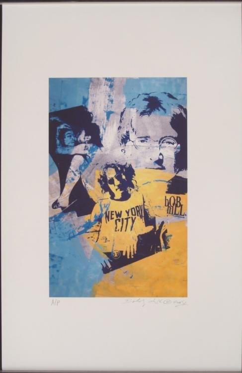 Bobby Hill Signed John Lennon New York Pop Art Print