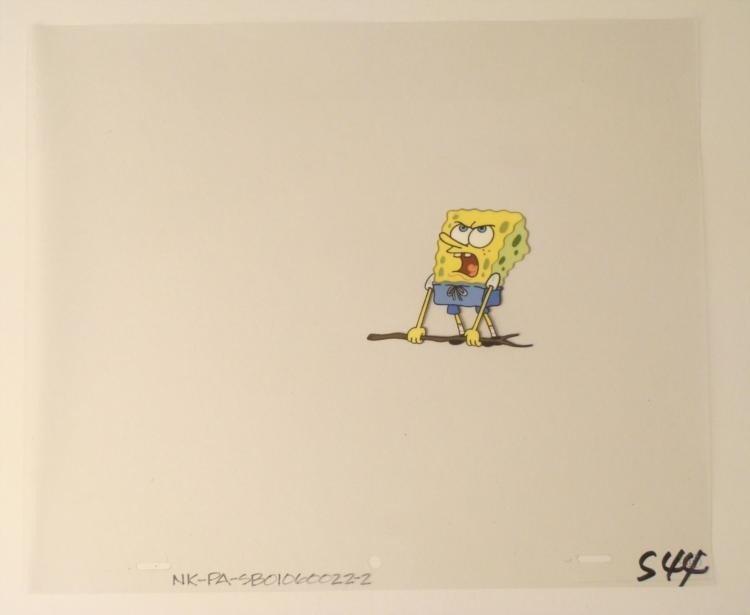 Original Lift A Stick Production SpongeBob Cel Art
