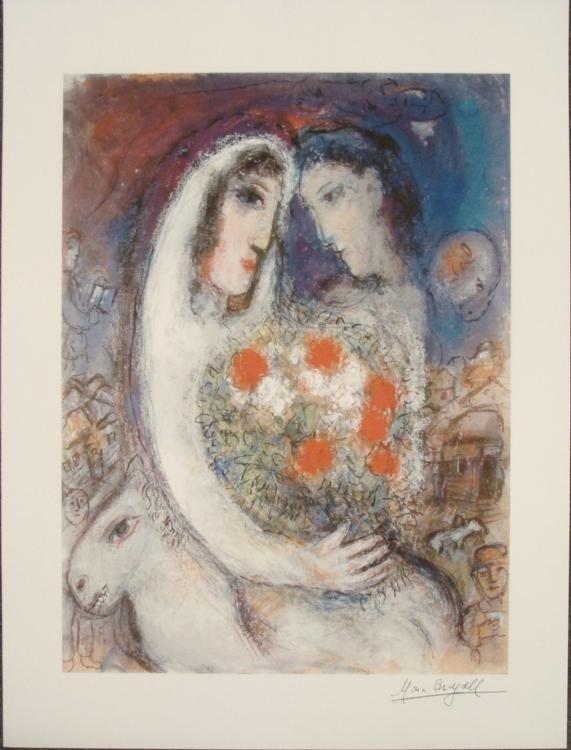 Marc Chagall : Marriage Romantic Art Print