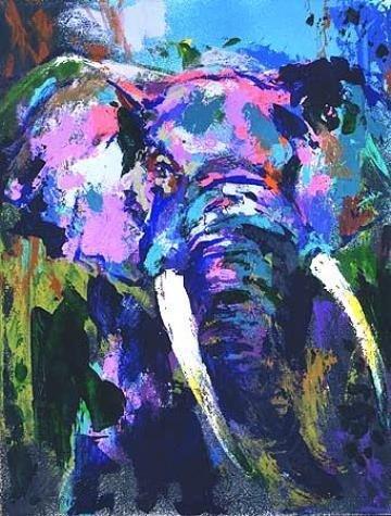 Portrait of the Elephant Signed Neiman LE Art Print