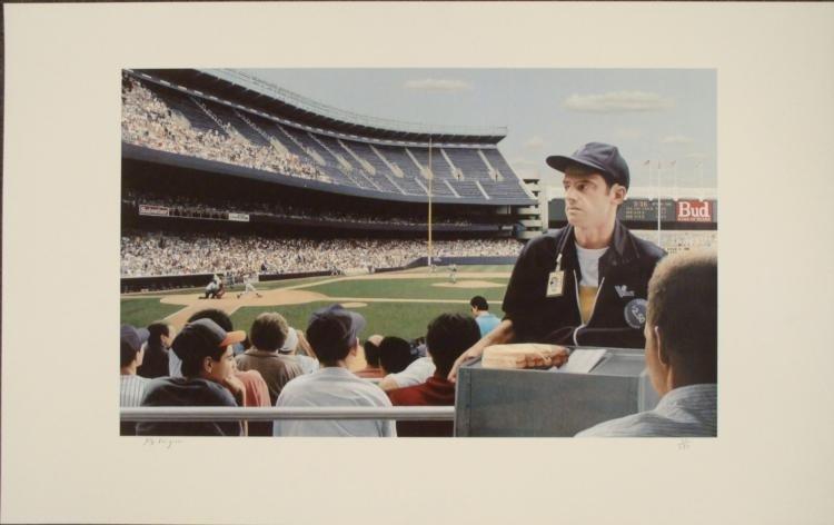 Max Ferguson : Yankee Stadium Baseball Art Print