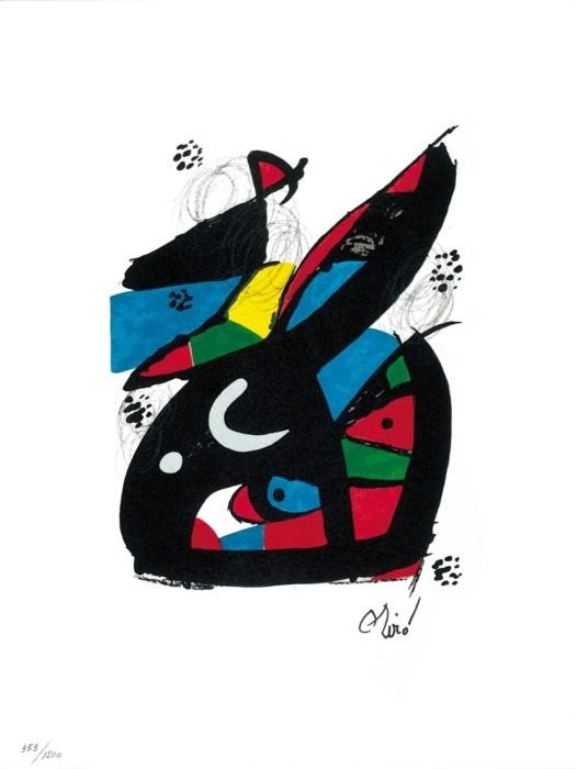 Joan Miro Ltd Ed Print from La Melodie Acide 1980 (13)