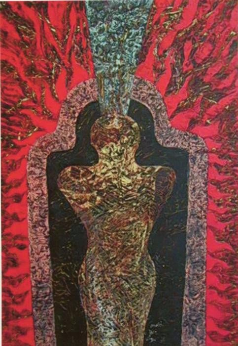 Robert Winslow Original Oil Painting Energy Body 2