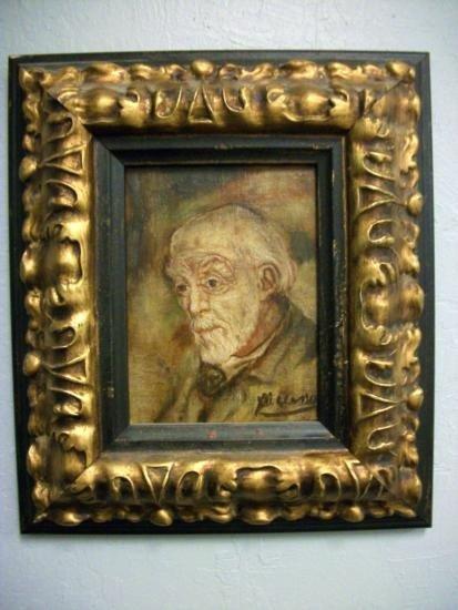 Antique European Portrait Painting Signed - Picasso