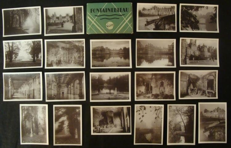 "WWII ERA PACKAGE OF 20 PHOTO CARDS OF ""FONTAINBLEAU"" FR"