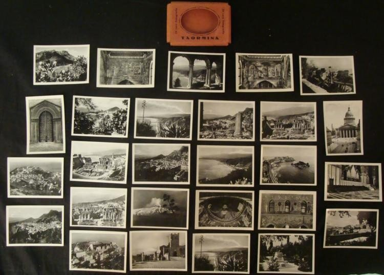 "WWII ERA GROUP OF 20+ PHOTO CARDS FROM ""TAORMINA"" ITALY"