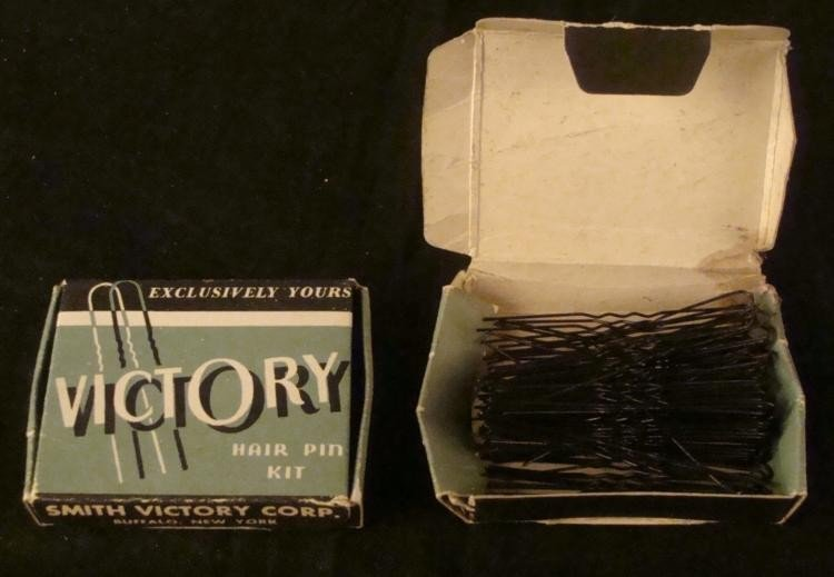 "2 PACKAGES OF WWII HOME FRONT ""VICTORY"" HAIRPINS"