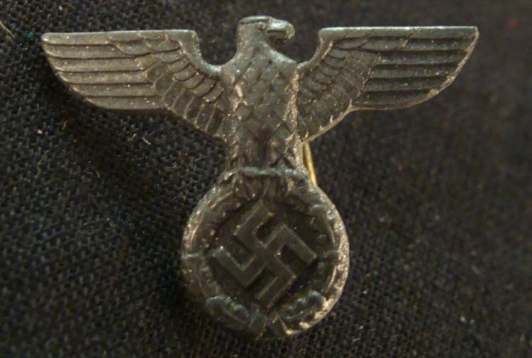 "NAZI EAGLE & SWASTIKA PIN-RZM--M1/34 ORIGINAL--1"" WIDE"