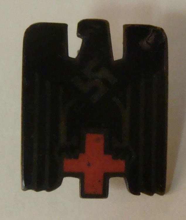 NAZI ORIG RED CROSS MEDAL-DEUTCHES ROTES KREUZ-SWASTIKA