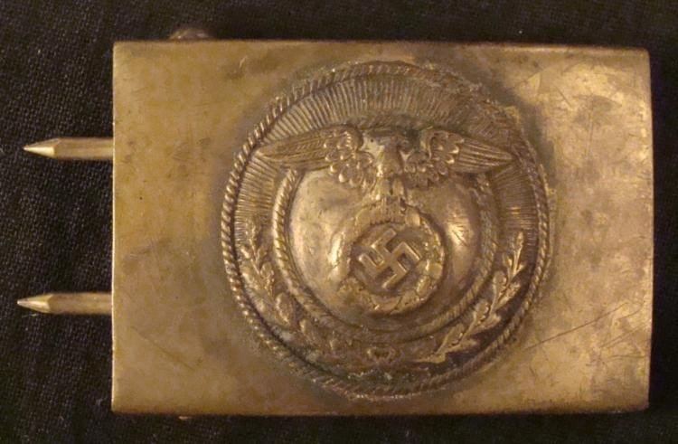 ORIGINAL HJ-HITLER JUGEND BUCKLE 1930-33-EAGLE SWASTIKA