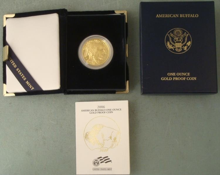 2006 American Buffalo Gold $50 Proof Coin w/ Box, Case