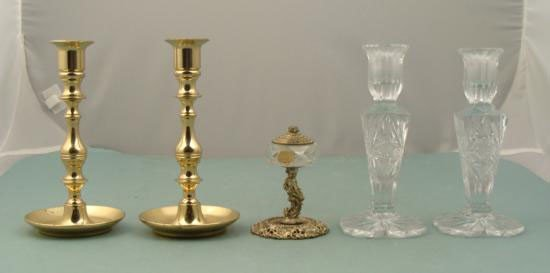 5 Vintage Votives Candle Holders Baldwin Bohemian
