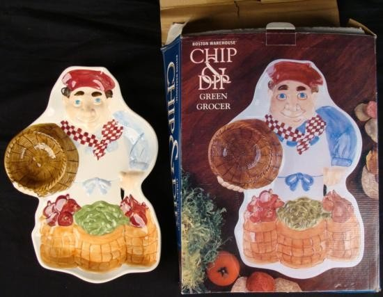 Chips Dip Serving Platter Boston Warehouse