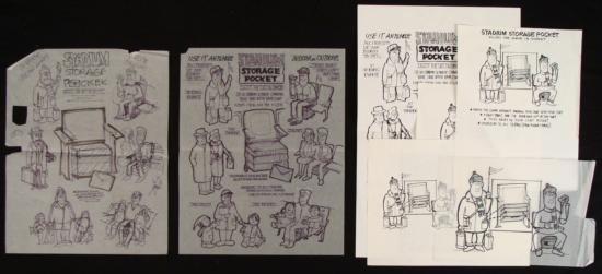 Original Product Art Drawings Ed Margolis Stadium Seat