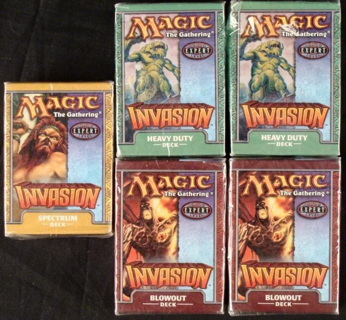 5 Magic the Gathering Decks Spectrum Heavy Duty Blowout