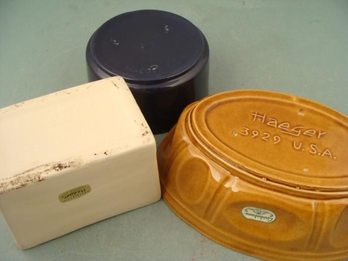 3 Vintage Haeger Pottery Bowls Gardenhouse 3929, 3878 - 2