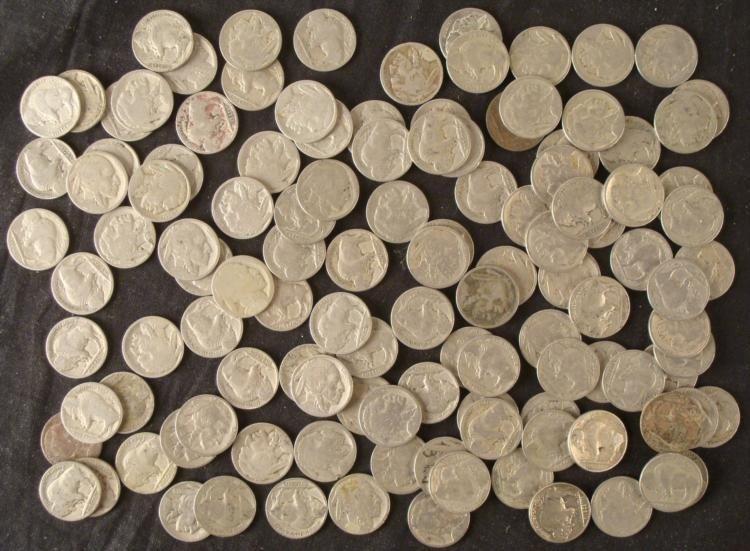 150 No Date + Partial Date Buffalo Nickels