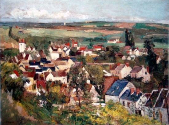 View of Auvers From Above Giclee on Canvas 17 1/2x22