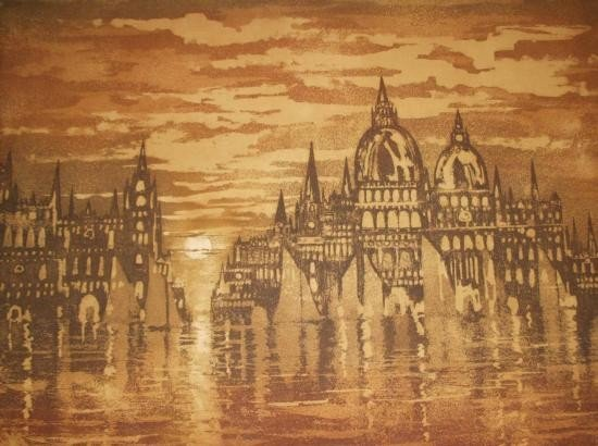 Venetian City By Dunn.. Etching Signed and Numbered