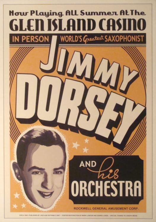 3 Jazz Concert Posters Armstrong Dorsey Webb