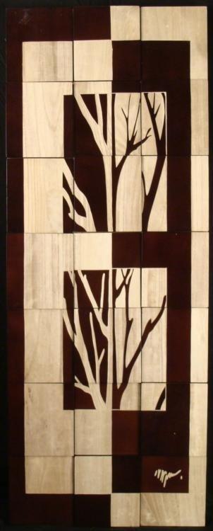 Bombay Company Tree Panel II Nature Art Wall Decor