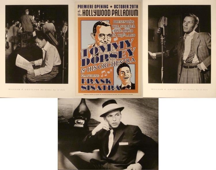 4 Frank Sinatra Posters William P. Gottlieb Tom Dorsey
