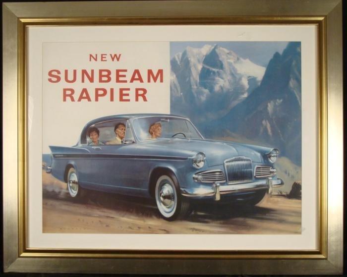 Sunbeam Rapier Vintage Car Advertising Poster 1960s