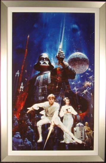 Berkey Art STAR WARS Force of Life Framed Canvas PRINT