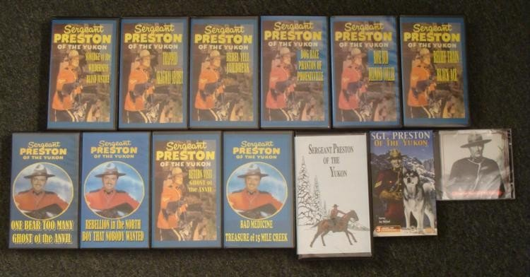 Sergeant Preston of the Yukon Sgt. Cassette CDs VHS