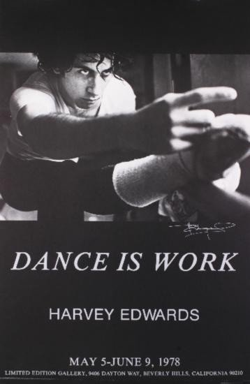 Signed 1979 Edwards Dance is Work Poster
