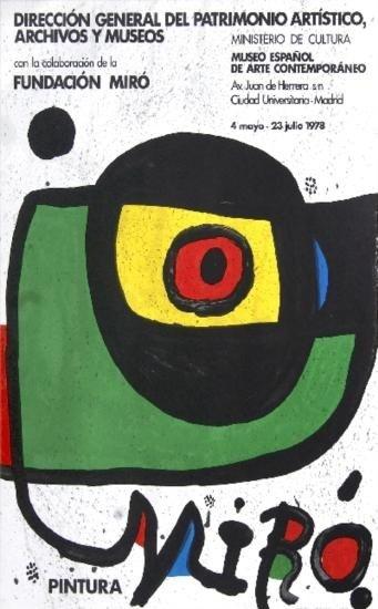 1978 Miro Pintura Lithograph