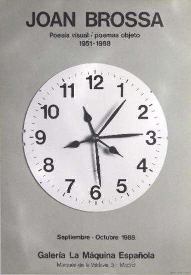 1988 Brossa Galeria La Maquina Espanola Litho