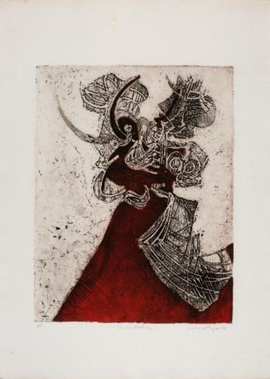 Signed 1968 Royce Danse Macabre Etching