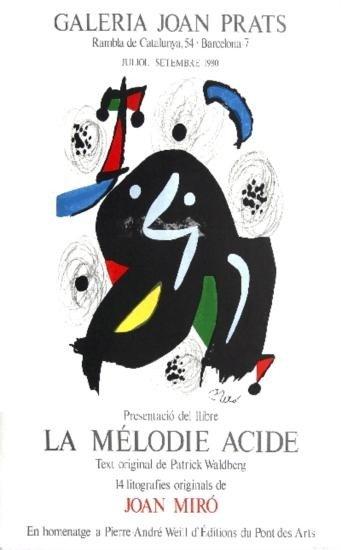 1980 Miro La Melodio Acide Lithograph
