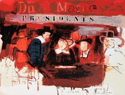 Signed 1991 Rivers Dutch Masters Mixed Media
